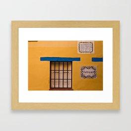 Yellow Wall Framed Art Print