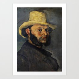Gustave Boyer in a Straw Hat (ca. 1870–1871) by Paul Cézanne. Art Print