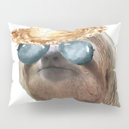 Sloth Aviator Glasses straw Sloths In Clothes Pillow Sham