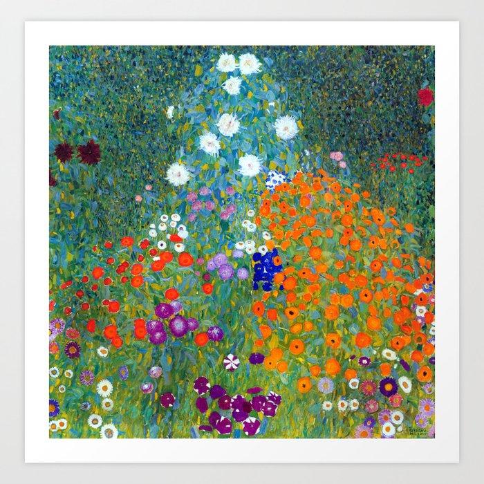 Gustav Klimt Flower Garden Kunstdrucke