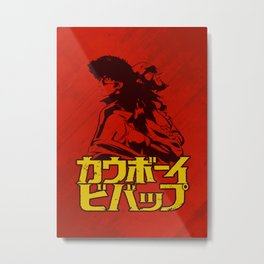 001b Cowboy bebop Red Metal Print