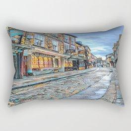 York Shambles Street Art Rectangular Pillow