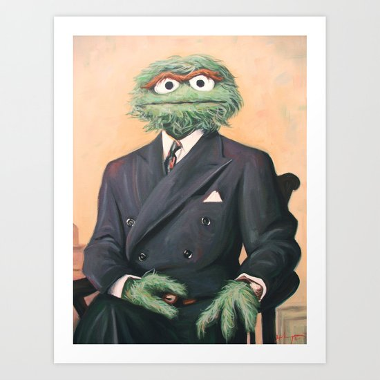 Sir Oscar Grouch Art Print