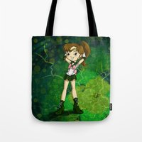 sailor jupiter Tote Bags featuring Sailor Jupiter by Thedustyphoenix