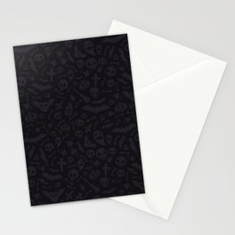 Dark Halloween Pattern Stationery Cards