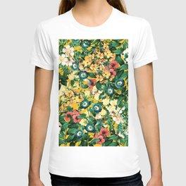 Tangerine Floral Pattern Vintage T-shirt