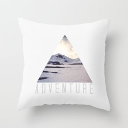 mountain adventure Throw Pillow