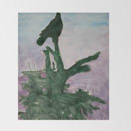 Stillness of earth Throw Blanket
