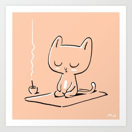 Max the Cat Chills Out Art Print