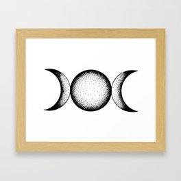 Triple Moon Framed Art Print