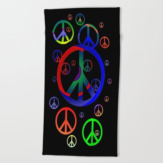 Peace time Beach Towel
