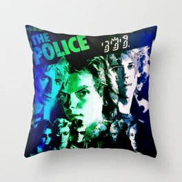 Fragile Police Sting Sings Throw Pillow