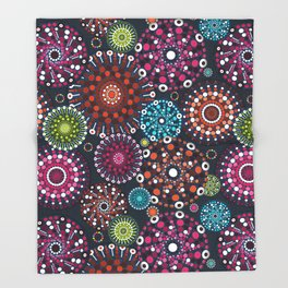 Mandala Dots Throw Blanket