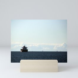 leaving port Mini Art Print