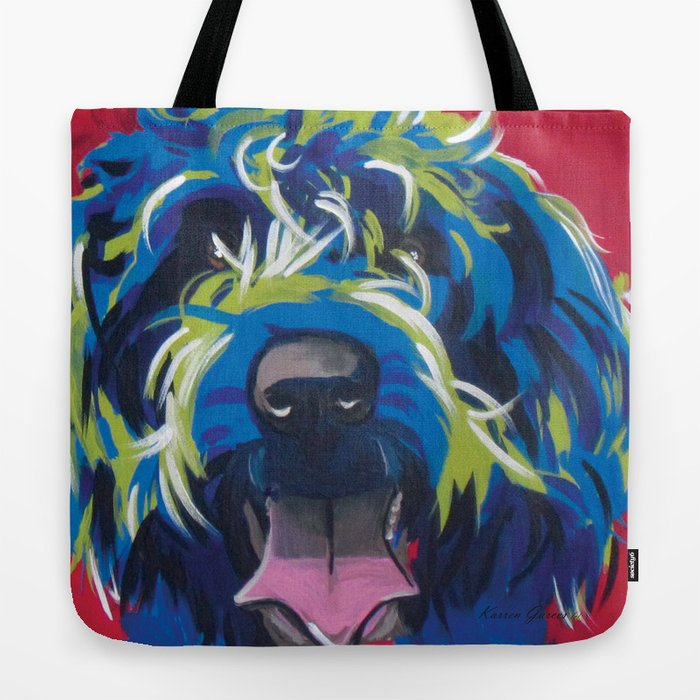 Wirehaired Griffon or Labradoodle Pop Art Pet Portrait Tote Bag by ...