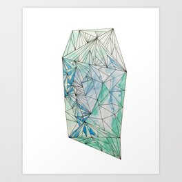 BIRTHSTONES - MARCH / AQUAMARINE Art Print