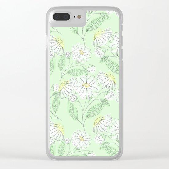 Cartoon  chamomile. Clear iPhone Case
