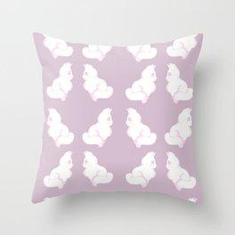 Grapefruit Cat - Linear Dodge on Purple Throw Pillow