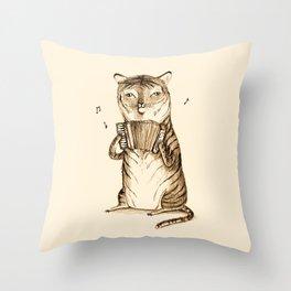 Accordion Tiger Throw Pillow