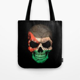 Dark Skull with Flag of Jordan Tote Bag
