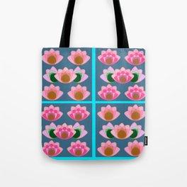 Pink lotus field Tote Bag
