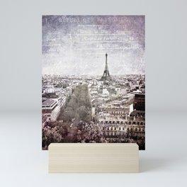 la tour eiffel {liberté Mini Art Print