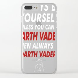 Always-Be-Darth-Vader Clear iPhone Case