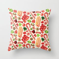 Christmas Candy Pattern Throw Pillow