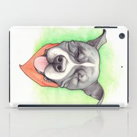 stevie nicks iPad Cases featuring Pitbull - Love is blind - Stevie the wonder dog by PaperTigress