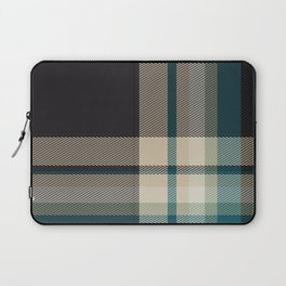 Christmas Plaid 9 (Blue) Laptop Sleeve