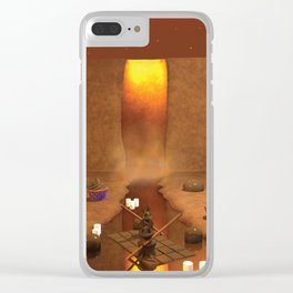 Chocolate Waterfall Bunny Boat Clear iPhone Case
