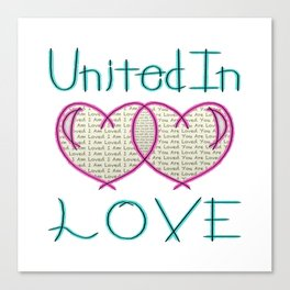 United In Love Canvas Print