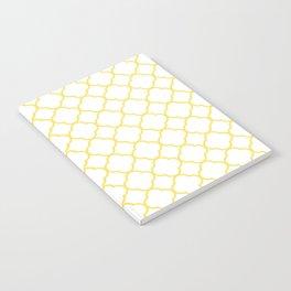 Yellow, Canary: Quatrefoil Clover Pattern Notebook