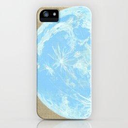 Moon Portrait 4, Blue Moon iPhone Case