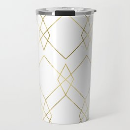 Gold Geometric Travel Mug