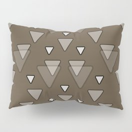 Triangles Geometric Pattern in Brown Pillow Sham