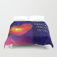 murakami Duvet Covers featuring H. Murakami quote -1 by dollmadeinjapan