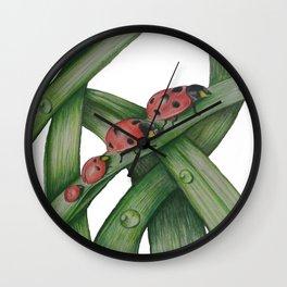 Lady Bug Family Wall Clock