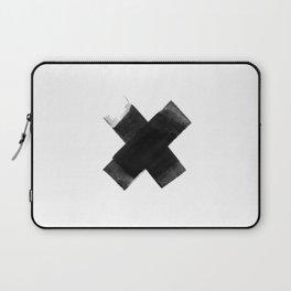 The Black X  Laptop Sleeve