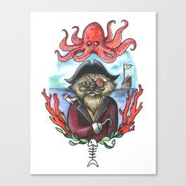 Captain Barnacles The Cat Canvas Print