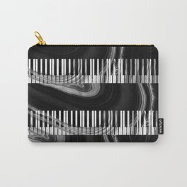 Modern Art Black And White Piano - Sharon Cummings Carry-All Pouch