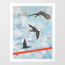 Ibises in Flight Art Print