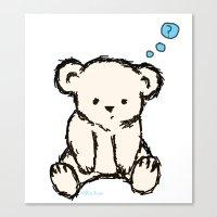 teddy bear Canvas Prints featuring Teddy by RaJess