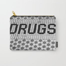DRUGS Tiled Pharmacy Doorstep Carry-All Pouch