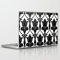 221b Laptop & iPad Skins featuring 221B Baker Street - Fleur de lis. by Arrows At My Window Designs