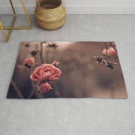Fantastic Elegant Red Roses Blossoms Ultra HD Rug