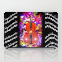 cello iPad Cases featuring Psychedelic Cello by JT Digital Art