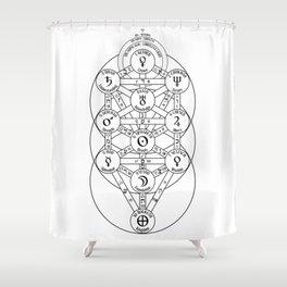 Kabbalah Tree Of Life Shower Curtain