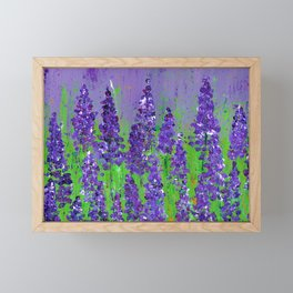 Fields of Lupine - Flowers Framed Mini Art Print
