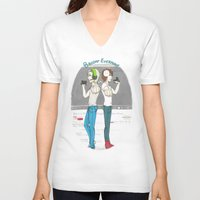 pewdiepie V-neck T-shirts featuring Broday Everyday by SofusGirl